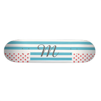 Stars and Stripes customizable monogram Skateboard Deck