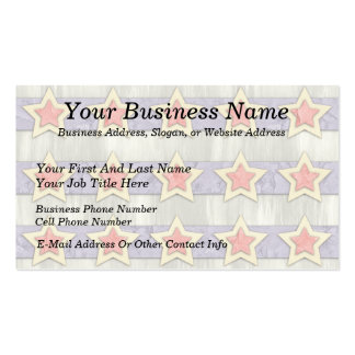 Stars And Stripes Cut Outs Business Cards