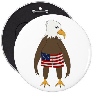 Stars and Stripes Eagle Button