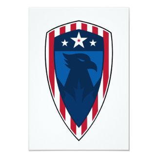 Stars and Stripes Eagle Shield RSVP Card