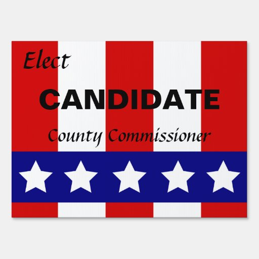Stars and Stripes Election Sign