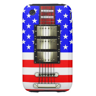 Stars and Stripes Electric Guitar iPhone 3 Tough Cover