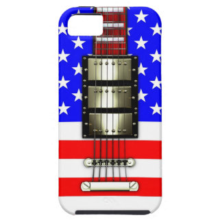 Stars and Stripes Electric Guitar iPhone 5 Case