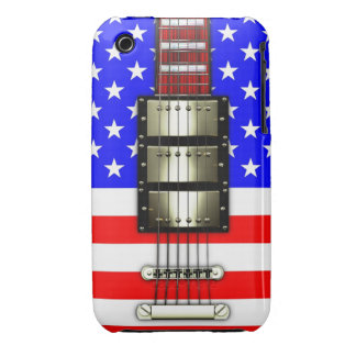 Stars and Stripes Electric Guitar Case-Mate iPhone 3 Cases