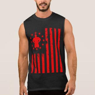Stars and Stripes Fitness USA Sleeveless T-shirts
