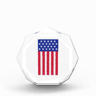 Stars and stripes flag acrylic award