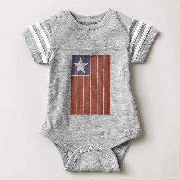 USA Themed Stars And Stripes Flag Baby Bodysuit