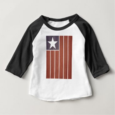 USA Themed Stars And Stripes Flag Baby T-Shirt