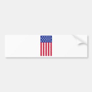 Stars and stripes flag car bumper sticker