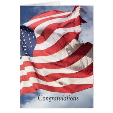 USA Themed Stars and Stripes Flag Congratulations Greetings C Card