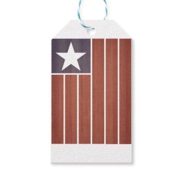 USA Themed Stars And Stripes Flag Gift Tags