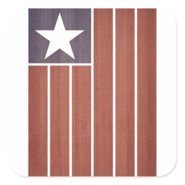 USA Themed Stars And Stripes Flag Square Sticker