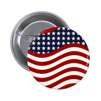 STARS AND STRIPES FOREVER! (American flag design) Button