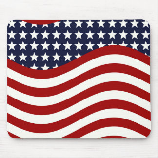 STARS AND STRIPES FOREVER! (American flag design) Mouse Pad