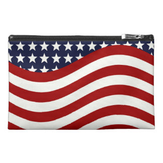 STARS AND STRIPES FOREVER! (American flag design) Travel Accessories Bags
