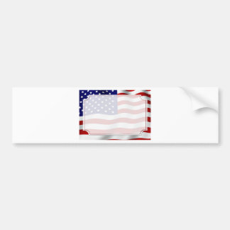 Stars and Stripes Forever Flag Memorial Day Bumper Stickers