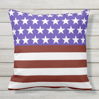 Stars and Stripes Forever Fun Throw Pillow