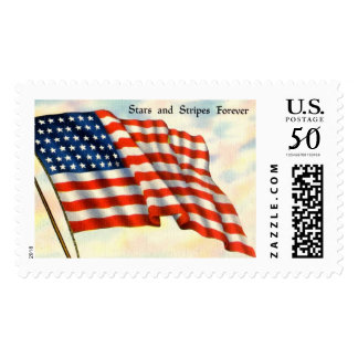 Stars and Stripes Forever July 4th Flag Postage