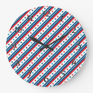 Stars and Stripes Forever Large Clock