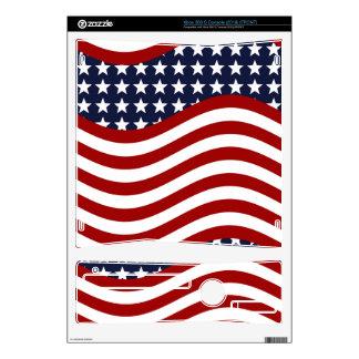 STARS AND STRIPES FOREVER! (patriotic flag design) Skin For Xbox 360 S