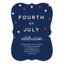 Stars and Stripes Fourth of July Card