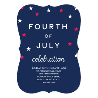 Stars and Stripes Fourth of July Invitation