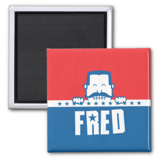 Stars and Stripes Fred Fridge Magnets
