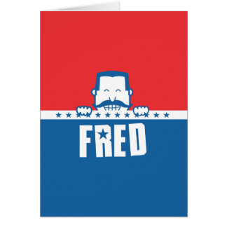 Stars and Stripes Fred Greeting Card