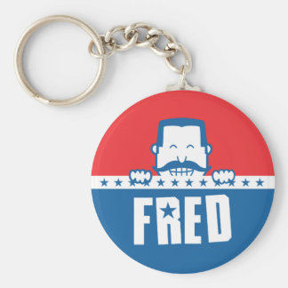 Stars and Stripes Fred Keychain