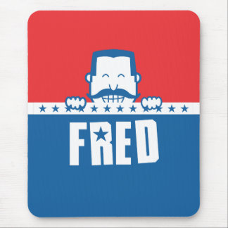 Stars and Stripes Fred Mouse Pad