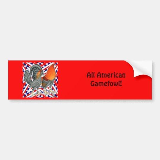 Stars and Stripes Gamefowl Bumper Sticker
