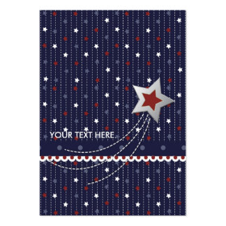 Stars and Stripes Gift Tag Large Business Cards (Pack Of 100)