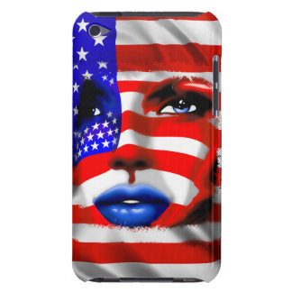 Stars and Stripes Girl's Portrait iPod Touch Case