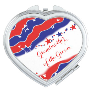Stars and Stripes GRANDMOTHER OF THE GROOM Mirror For Makeup