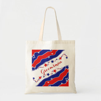 Stars and Stripes GROOMSMAN Tote Bag