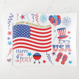 Stars and Stripes Happy 4th July red white blue Trinket Trays