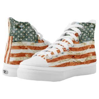 Stars and Stripes... High-Top Sneakers
