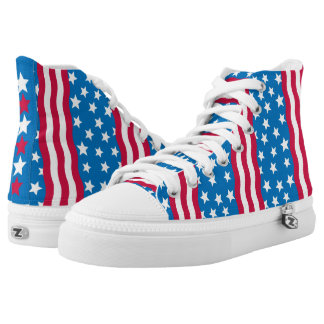 Stars and Stripes high tops