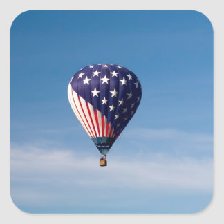 Stars and Stripes Hot Air Balloon Ride Square Sticker