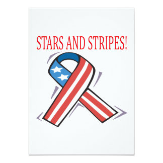Stars And Stripes 5x7 Paper Invitation Card