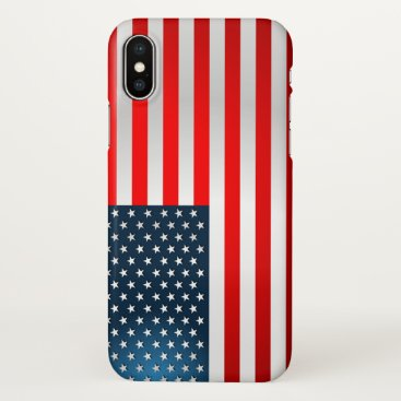 USA Themed Stars And Stripes iPhone X Case