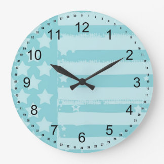 Stars and Stripes Large Clock