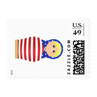 Stars and Stripes Matryoshka Postage Stamps