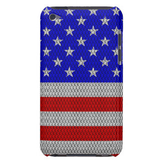 Stars and Stripes Metal Plate Effect Case-Mate iPod Touch Case