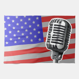 Stars And Stripes Microphone Hand Towel