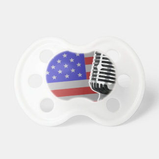 Stars And Stripes Microphone Pacifier