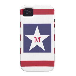 Stars and Stripes Monogram Stylized Vibe iPhone 4 Case