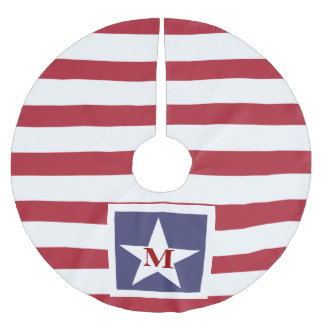 Stars and Stripes Monogram Stylized Brushed Polyester Tree Skirt