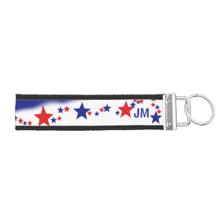 Stars and Stripes Monogrammed Wrist Keychain