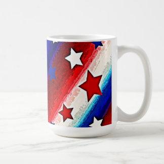 STARS AND STRIPES CLASSIC WHITE COFFEE MUG